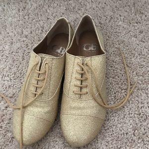 Gianni bini gold sparkle shoes